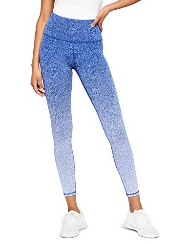 Amazon-Marke: AURIQUE Damen Yoga-Leggings mit Farbverlauf, Blau (Blue), 40, Label:L