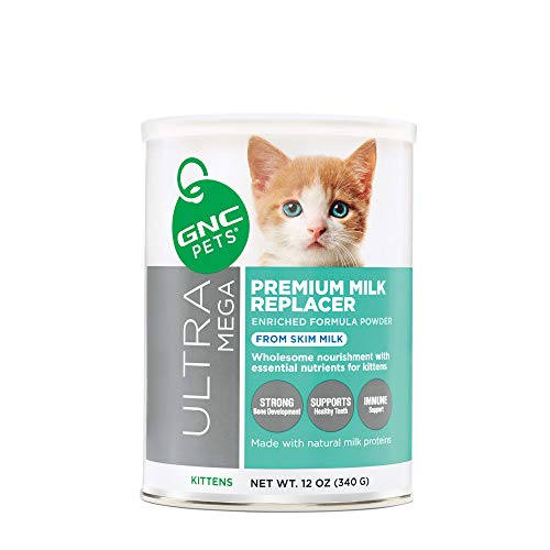 GNC Pets Ultra Mega Premium Milk Replacer Powder Formula for Kittens, 12 Ounces | Enriched Formula...