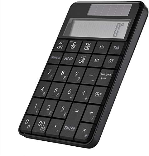 RIMEI Teclado numérico, Mini USB 2.4G inalámbrico 2 en 1 29 Teclas Teclado numérico Teclado y calculadora con Pantalla LCD