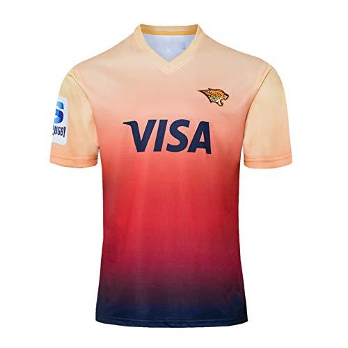 DDsports Argentina Jaguares, Rugby-Trikot, Home Edition 2020, Neuer Bestickter Stoff, Swag Sportbekleidung (5XL)