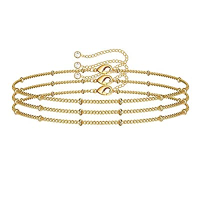 Amazon - Save 80%: Turandoss Dainty Layered Bracelets for Women, 14K Gold Filled Adjustable Laye…