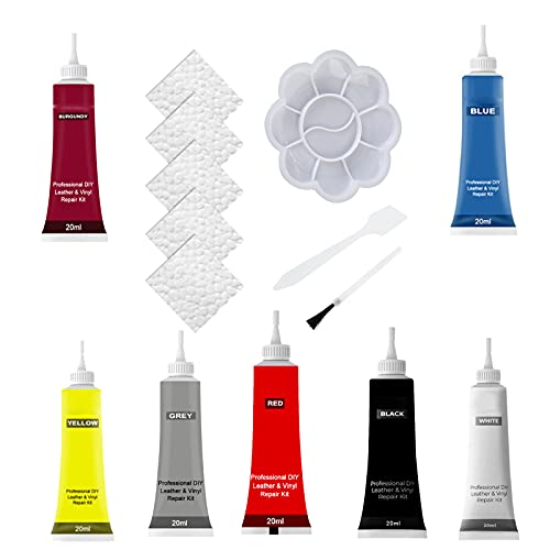 Leather Repair Gel, Multi-Color Advanced Leather Repair Gel, Leather and Vinyl Repair Kit, Leather Conditioner for Furniture With Accessory Set, Fast Repair Paste for Jacket, Car Seats, Purse (ALL)