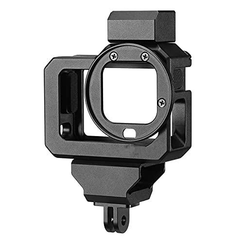 G8-5 Cámara de acción Cage Cage Ajuste para GOPRO Hero 8 Caja de Vlog Negro Aleación de Aluminio con Doble Adaptador de Montaje en Calzado frío