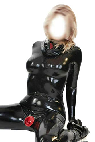 Latex Rubber Ladies' Full Body Enclosure Latex Catsuit with Condoms Customized