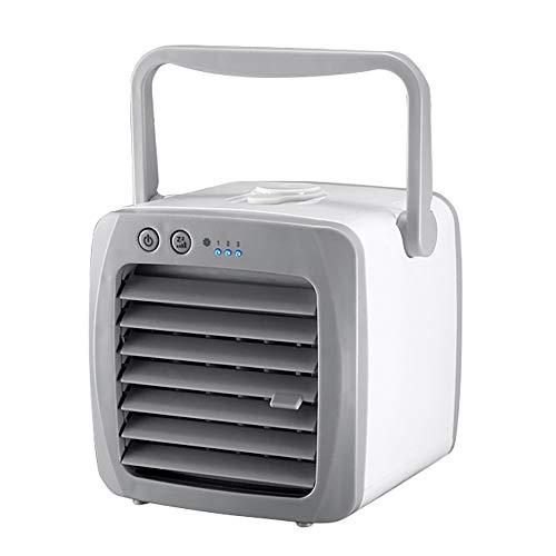 SODIAL Enfriador de Aire PortáTil de Escritorio de Oficina Casa, Personal de Tres Velocidades, 150 ML, Tanque de Agua, Aire Acondicionado USB, Ventilador Enfriador de Aire