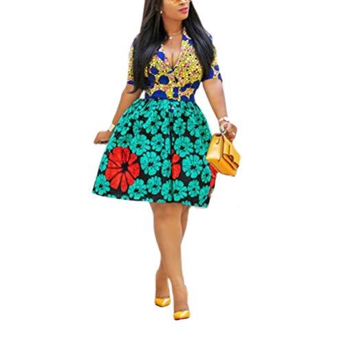 Jurken Vrouwen Fashion Elegant print naden contrast staande kraag korte hak Fashion Completi jurk zomerjurk