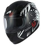 Astone Helmets - Casque moto GT2 kid predator - Casque de moto homologué pour enfant - Casque intégral enfant - Casque de moto intégral junior -Black/white M