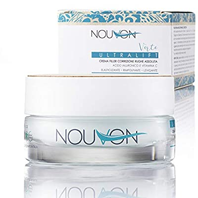 ULTRALIFT | Nouvon | Organic Anti-Wrinkle Face Cream with Pure Hyaluronic Acid & Vitamin C | Moisturising & Stretch Day & Night | 100% Organic Certified | Nickel tested
