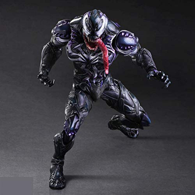 mejor marca Ldwxxx Deadly Deadly Deadly Guardian negro Venom Slaughter Venom Spiderman Movable Doll Estatua  entrega rápida