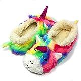 Oooh Geez Fluffy Animal Slipper My Unicorn All Amazingly Soft Sherpa Non-Skid Sole...