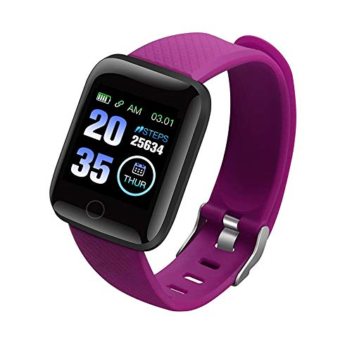 Ao Tuo IP67 Waterdicht Smart Horloge met Slicone Pols Band, Smart Bluetooth Armband Fitness Tracker Slaapmonitor met Hd Resolutie Kleur Scherm
