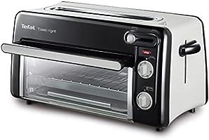 Tefal Toast & Grill TL6008 - Tostador y horno, 2 en 1, potencia 1300 W, 1 ranura larga, temporizador 10 min, termostato...