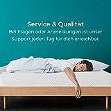 Snooze Project – Gel-Schaum Topper Matratzen-Auflage – 5cm Höhe – Extra Weich – Visco-Schaum RG 50 Schaumstoff – Allergiker-geeignet und Öko-Tex 100 zertifiziert Größe 90×200 - 6