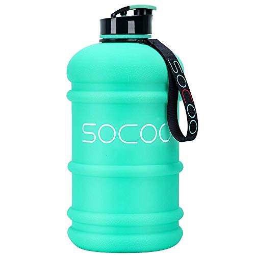 SOCOO Trinkflasche Sport 2,2L Bottle BPA frei Wasser flasche, Sportflasche, Schule, Fahrrad