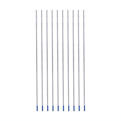 Electrodos de soldadura Electrodos de tungsteno Electrodos lantanados Azul 10pcs WL20 con caja para la industria(1.6 * 175mm)