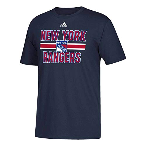 Adidas NHL Game Day T-Shirt für Erwachsene, kurzärmelig, Herren, New York Rangers - Navy, Medium