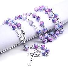 JINKEBIN kettingen Klassieke mode handgemaakte gebogen-pin rozenkrans ketting kruis van Christus Afflicten als een religie...