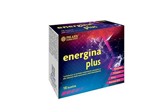 Polaris Farmaceutici Energina PLUS 16 bustine Potassio 700 mg Magnesio 375 mg Creatina 600 mg Carnitina 500 mg Taurina 250 mg Ginseng Zinco