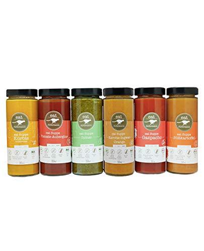 eat Performance® Mixed Soup Box (6 Sorten) - Bio, Paleo, Vegan, Glutenfrei, Laktosefrei, Ohne Zuckerzusatz, Aus 100{d425832719cc4fe8002056af161c2f63ec832d0c23f9a5bb22fe771432710d80} Natürlichen Bio Zutaten