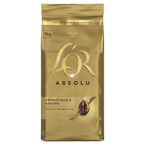 L'Or Café 4Kg Grains Absolu (lot de 4 x 1Kg)