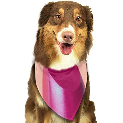 N/B Bbgsw Roze Lippenstift Met Groene Hoesje Aangepaste Hond Hoofddoek Heldere Gekleurde Sjaals Leuke Driehoek Bibs Accessoires Voor Huisdier Honden