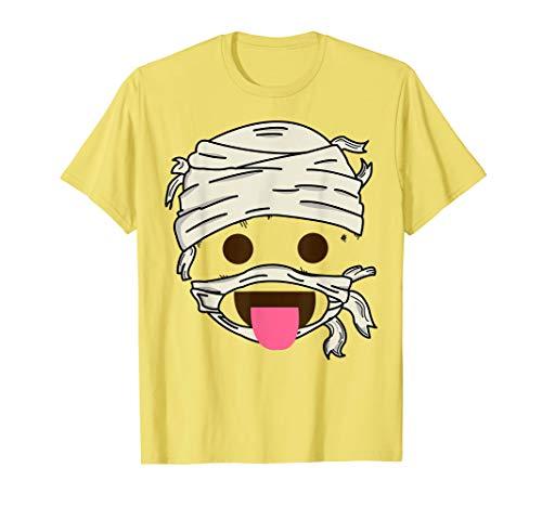 Mumie Zunge Heraus Emoji Einfach Smiley Halloween Geschenk T-Shirt
