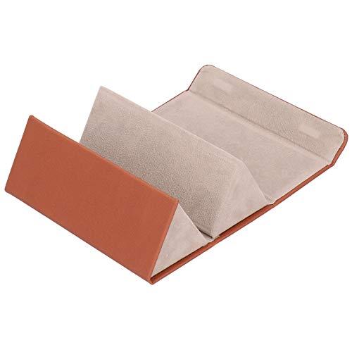 GXju- Furniture Bolsa De Almacenamiento De Gafas Simple Y Personalizada De 2 Ranuras, Bolsa De Almacenamiento Pequeña Exquisita, Elegante Y Hermosa Marrón