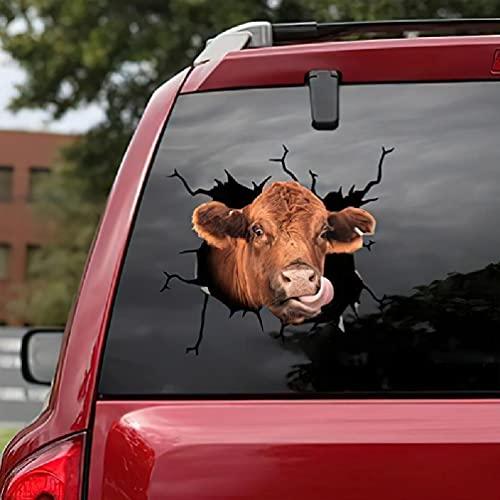 Etiquetas engomadas del coche 3d animales, desgarro animal lindo etiquetas engomadas de la ventana 3d tridimensionales palos de cristal de la ventana del coche decoraciones murales pegatinas de la ven