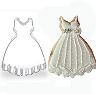 Zoomy far: 1pcs Wedding Decoration Brides Dress Cookie Cutter Metal patisserie reposteria Biscuit Pastry Shop