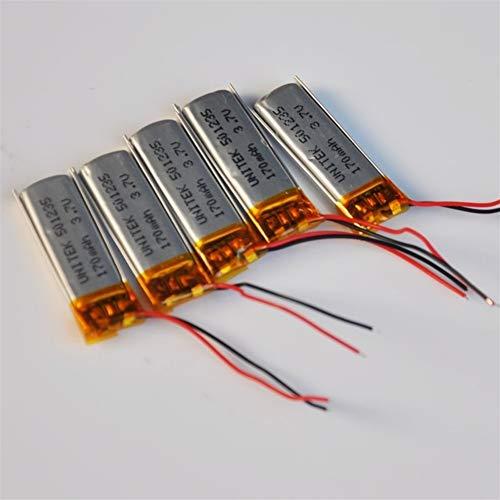 QianHaoQJu XW-Battery, 50pcs 501.235 wiederaufladbaren Lithium-Polymer-Batterie 3,7 V lipo Li-Ionen-Zelle 170mAh for PCB digitales Bluetooth-Gerät geschützt (Size : 3.7V)