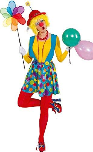 Orlob Damen Kostüm Trägerrock Clown Augustine Karneval Fasching Gr.42/44
