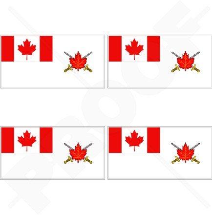 Canada Army Ensign Drapeau canadien, Land Force Command 5,1 cm (50 mm) bumper-helmet en vinyle autocollants, Stickers x4