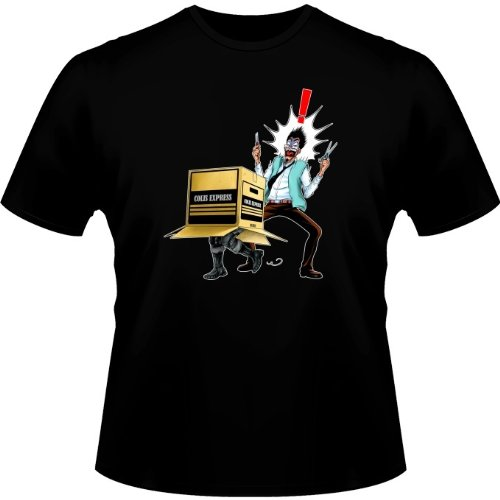 T-Shirt Noir Metal Gear Solid parodique Solid Snake : Colis piégé. : (Parodie Metal Gear Solid)