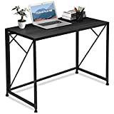 No Assembly Required: This special writing desk requires no assembly with any tool. Just unfold the frame and press the desk board onto the frame. Super easy! Modern Design: Comhoma computer writing desk is designed with modern simple style. This les...