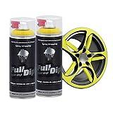 AutoFullCar Full Dip Pack 2 Spray Colores FULLDIP PLASTIDIP - TiendaFullDip.com (Amarillo)