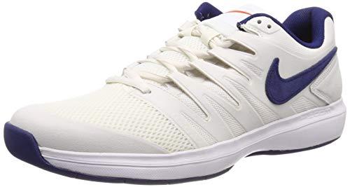 Nike Air Zoom Prestige CPT, Chaussures de Tennis garçon, Multicolore (Phantom/Blue Void/Sail/Orange Blaze 044), 36 EU