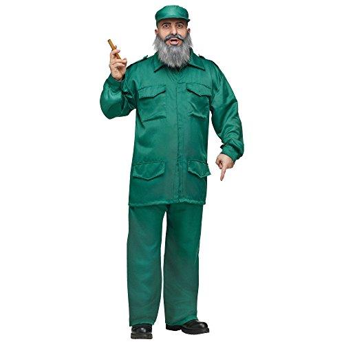Disfraz De Dictador Comunista Cubano De Fidel Castro Para Adulto Color Verde