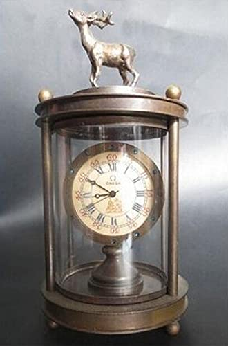 HaiFiy ZSR912 +++ Kupfer Messing Chinesisch Sammlbare alte Uhr Uhr Asiatische antike Schmucks Seltene Vintage Kupfer Mechanische Uhr, das Beste Messing Schmuckstücke Einzigartiges Überraschungsg