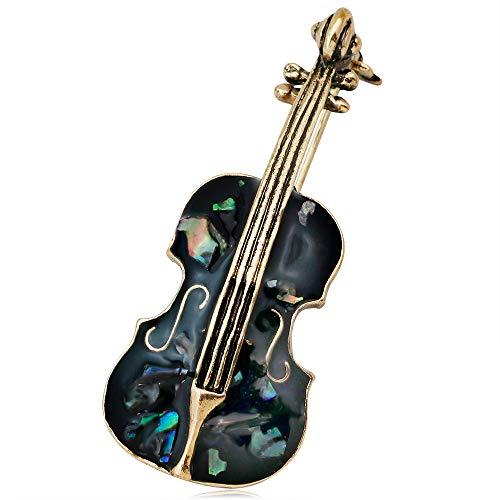 U/K PULABO Vintage Violine Broschen Bekleidung Zubehör Damen Revers Abzeichen Retro Brosche Schmuck, 2 kreativ und nützlich langlebig