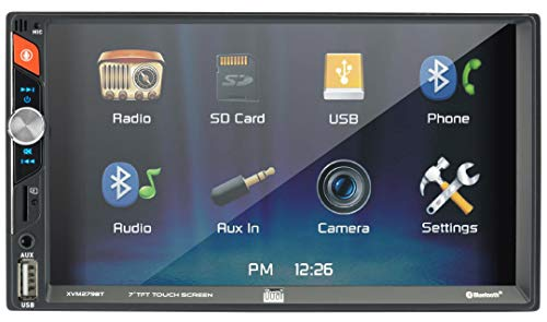 Dual Electronics XVM279BT 6.2-inch LED Backlit Multimedia Touch Screen Double DIN Car Stereo Receiver