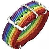 Pride Buckle Rainbow Bracelet Gay LGBT Bandera Tela Pulsera LGBTQ