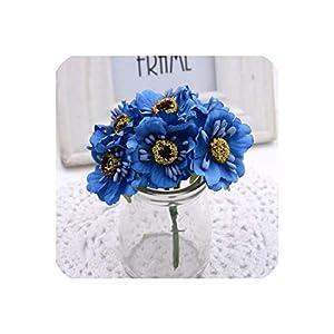 6Pcs 3.5Cm Mini Silk Cherry Artificial Poppy Bouquet DIY Handmade Tattoo Wreath Scrapbook Wedding Decoration Craft Fake Flower