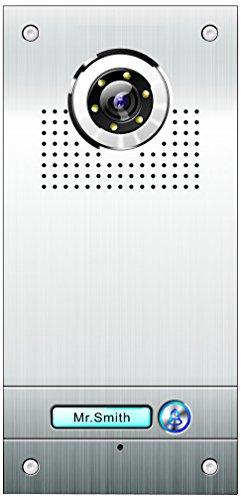 AE Farb-Videotürsprechanlage 1 Familie, Außeneinheit, Edelstahlfrontplatte, 1 Klingeltaster, Unterputzmontage, SAC562C-CK(N1)