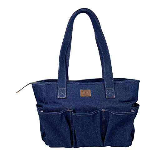 Hide & Drink, Denim Diaper Bag Made with Durable Repurposed Denim – Travel Diaper & Baby Supply Carrier – Lightweight and Perfect for Organized Parents On The Go – Stylish and Functional
