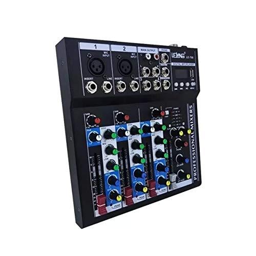 Mesa De Som 4 Canais Com Bluetooth, USB, MP3, Delay e Display Digital
