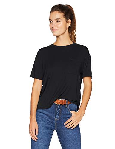 Daily Ritual Jersey Short-Sleeve Boxy Pocket Tee fashion-t-shirts,black-M