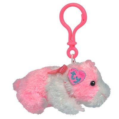 Portes Clés - Peluche Hamster Rose Porte-clés 13 Cm