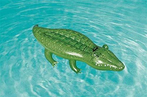 Bavaria Home Style Collection Schwimmtier Reittier Badetier, Krokodil. Aufblasbares Krokodil Alligator für absoluten Badespaß! Mit Haltegriff. Größe aufgeblasen: ca. 168 x 89 cm Badespaß für Kinder