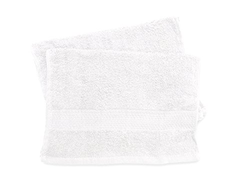 Soleil d'ocre 422100 Douceur Lot de 2 Serviettes Coton Blanc 30 x 40 cm