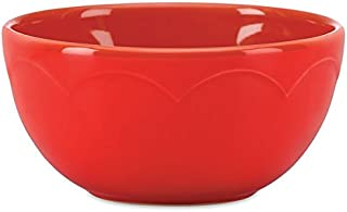 kate spade new york kitchen Red Sculpted Scallop Fruit Bowl